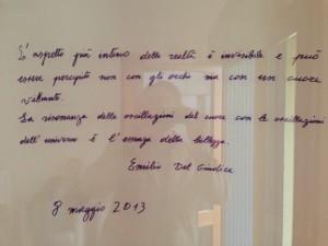 Pensiero di Emilio Del Giudice
